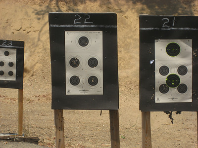 Target #1 is my (Ben) super awesome grouping with a .40 semi-auto handgun. Don't mess with me, pew pew!