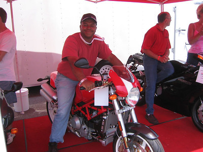 Joe on the Ducati Monster ST2 or ST4 at Laguna Seca
