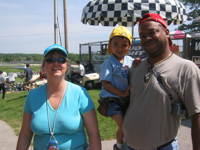 Joe, Nancy, and LJ at Road America AMA Superbike Doubleheader