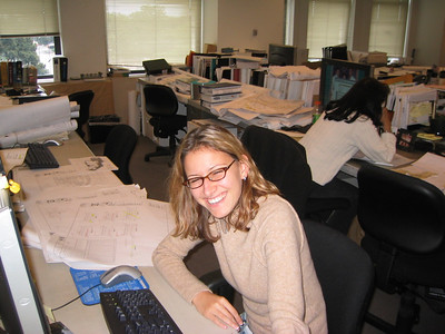 Darina at her desk at Skidmore Owings and Merrill ( SOM )