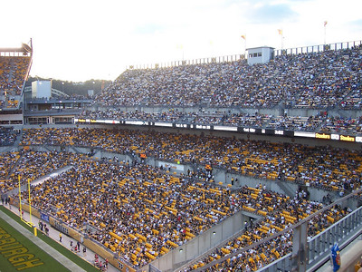 View of the endzone seats.