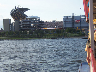 Sailing to Heinz field.
