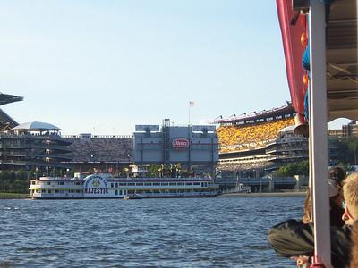 Sailing to Heinz field.