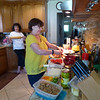 workin the pies -- look at Frannie with that rolling pin....yikes!