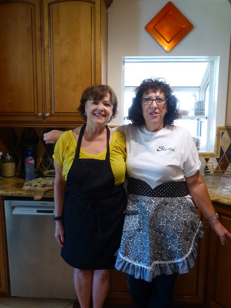 now there's a pair to draw to, showing off their aprons