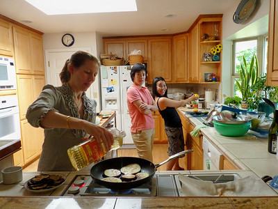 Suzanne, Anna, Chisa -- the cooks