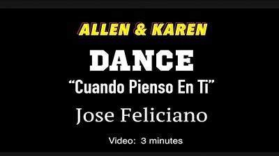 Video: 3 1/2 mins ~~ Allen & Karen ~~ Rumba Cuand