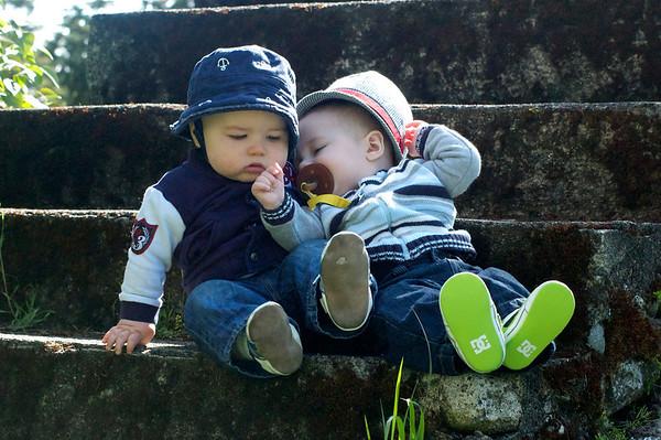 Posing babies in the park - April 2012