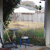 Before - View of back flower bed from the patio.  What a mess!