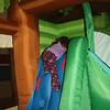layla climbing slide in bouncy house