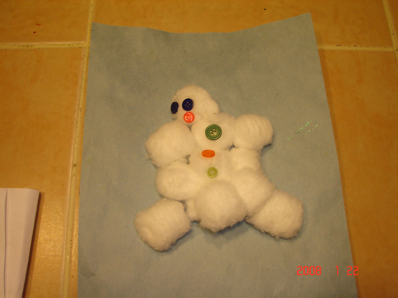 Elliot's snowman.
