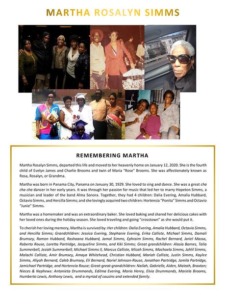 20200120 Martha Rosalyn Simms Obituary - Pamphlet 2