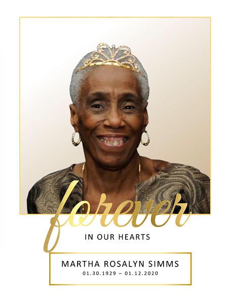 20200120 Martha Rosalyn Simms Obituary - Pamphlet 1