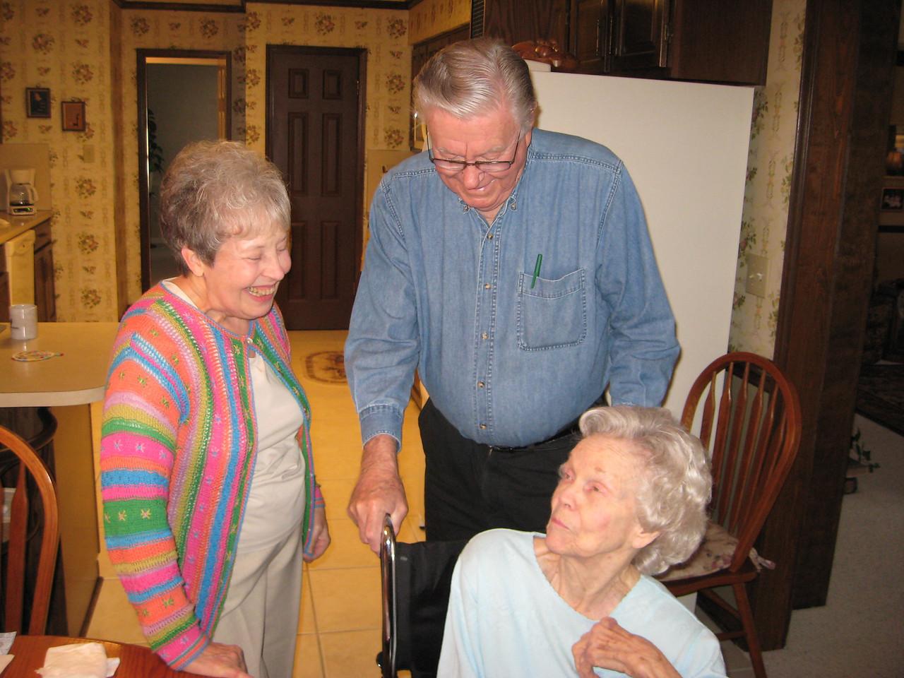 Betty Burch and R.J. & Paulilne Stevens