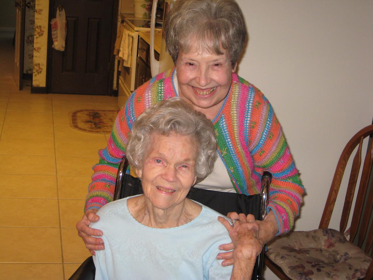 Pauline Stevens and Betty Burch