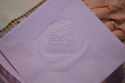 The celebratory napkins.