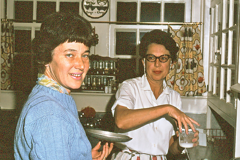 Cherry & Maxine Bagley cook in our kitchen, Pensacola, Fl.