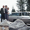 Stew & Maxine Bagley with Cherry & Balyeat's car, Lake Tahoe, Ca.