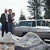 Stew & Maxine Bagley with Cherry & Balyeat's car, Lake Tahoe, Ca.