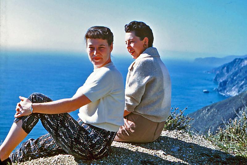 Cherry Balyeat and Maxine Bagley near Monterey, California
