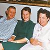 Cherry Balyeat sits between buddies Stew & Maxine Bagley