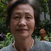 Mieko Yamashita in the WFC Peace Garden, Hiroshima, Japan