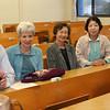 At the first WFC Shudo University Internship presentations (L-R) Kent & Sarah Sweitzer, Mieko Yamashita, Chizuko Taguchi, Michiko Watanabe.