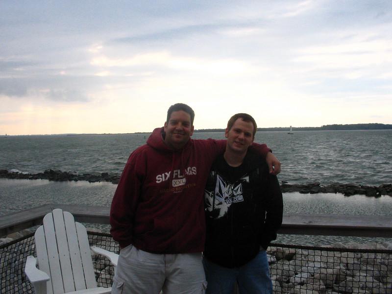 Joe and Rob on deck