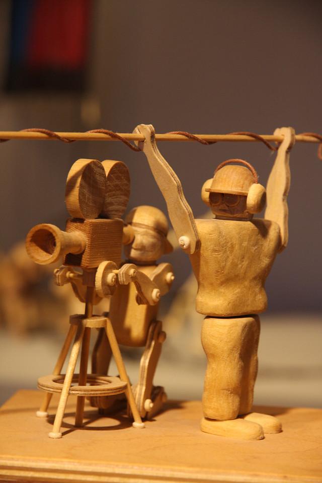 Wooden filmmakers.