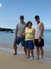 Ross, Eneida, & John enjoy some sun, sand, & surf.