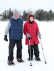 Kent & Sarah on snowshoes - the preferred way to navigate deeper snow.