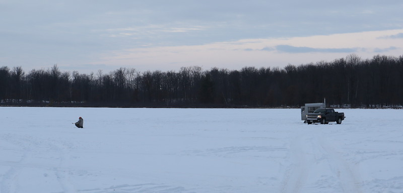 Ice fishing is a Wisconsin tradition.