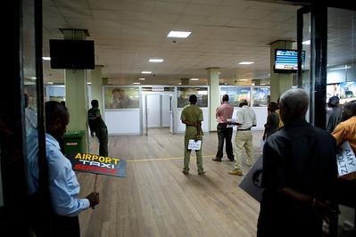 Arrivals, Kilimanjaro International Airport.