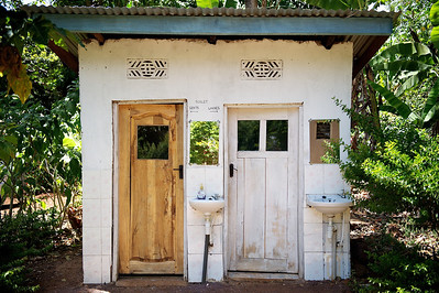 Toilets. Marangu village, Moshi district, Tanzania.