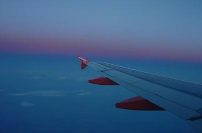Early morning flight from GVA to AMS.