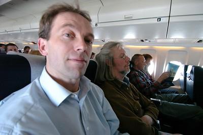 On the plane to Glasgow.