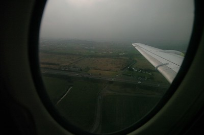 Approach to Glasgow. Just like we expected and hoped it would be, grey and with a slight drizzle.