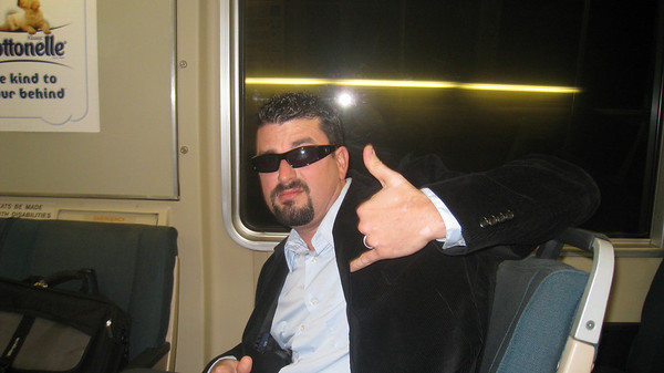 Sean Bizzo fo shizzo on the BART.