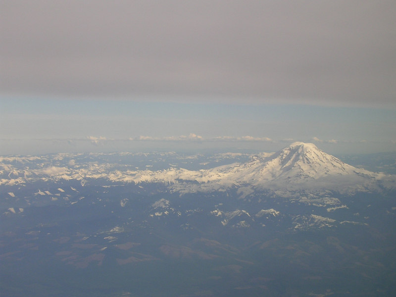 Mt. Ranier from the plane
