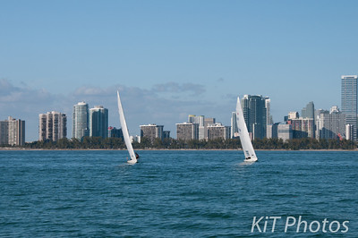 On Saturday we sailed out into the bay to watch practice for the Rolex Miami OCR
