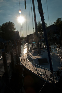 Back in the marina for a wonderful dinner. Beautiful day on the water. Thanks, Bob and Sally!