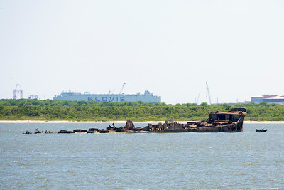 Another look at the concrete hull of the S.S. Selma