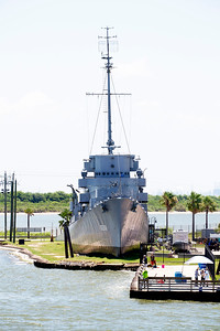 The destroyer escort, U.S.S. Stewart on Pelican Island