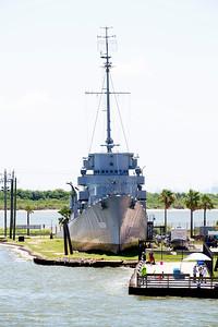 The destroyer escort, U.S.S. Stewart on Pelican Island
