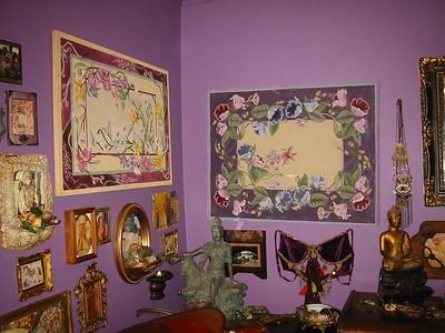 Sasha's art on the walls