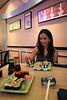 Dinner at Kenshin Sushi.