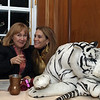 Ellen Turner, Carol Rizzie York, and white tigers.