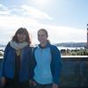 Lexie and Saya at the Golden Gate Bridge