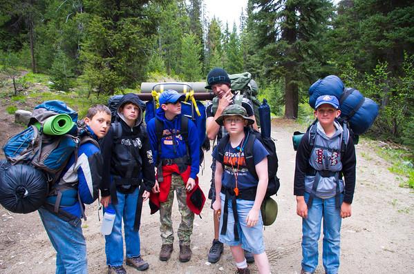 Jennie Lake backpacking trip June 2012