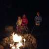 Getting ready for s'mores.